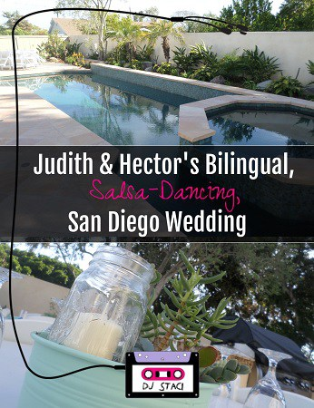 Bilingual Salsa-Dancing San Diego Wedding - Backyard 3