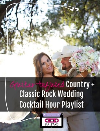 Guitar-Infused Country + Classic Rock Wedding Cocktail Hour Playlist