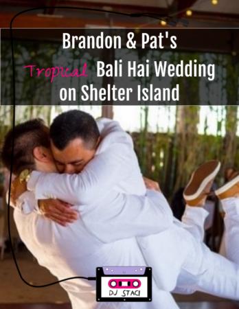 Tropical Bali Hai Wedding Shelter Island 1