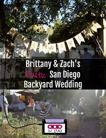 Rustic San Diego Backyard Wedding 2