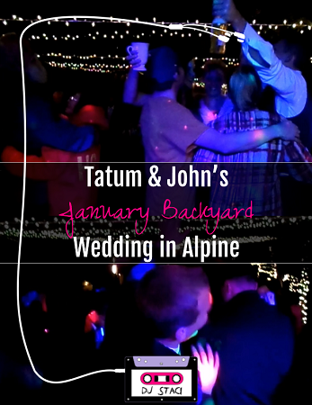 January Backyard Wedding Alpine 1