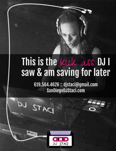San Diego Wedding DJ Staci Pin
