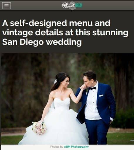 San diego wedding round up march 15 2017 edition san for Wedding dress rental san diego