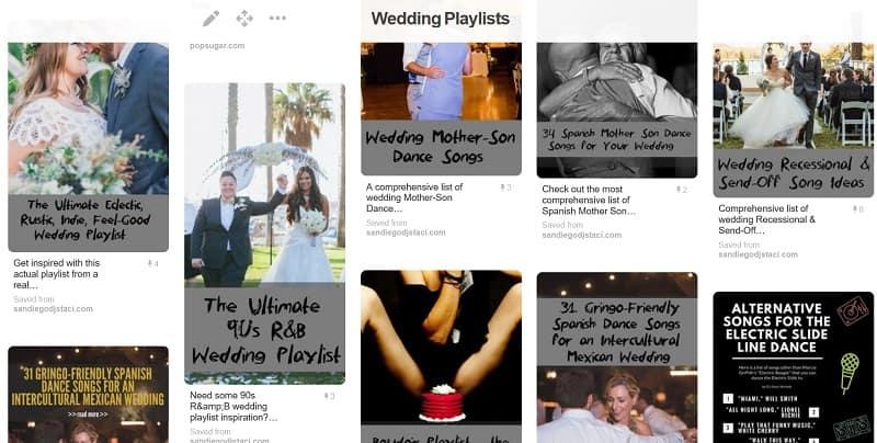 Wedding playlists archives san diego dj photo booth on pinterest wedding playlists junglespirit Gallery