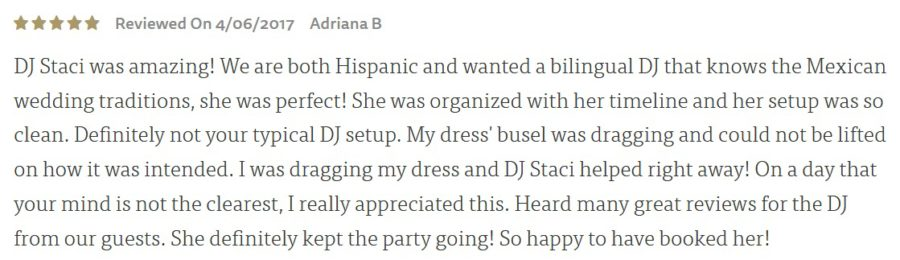 Bilingual San Diego Wedding DJ