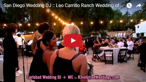San Diego Wedding DJ Leo Carrillo Ranch Wedding
