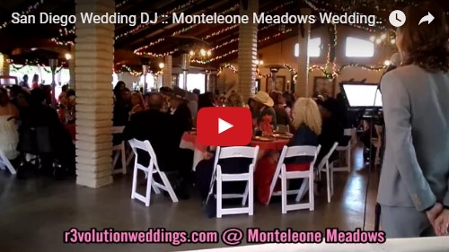 San Diego Wedding DJ Monteleone Meadows Wedding
