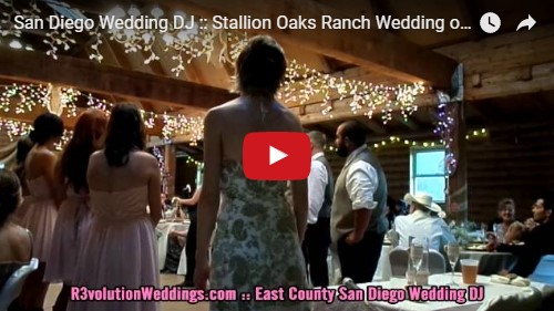 San Diego Wedding DJ Stallion Oaks Ranch Wedding
