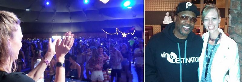 DJ Staci at Stagecoach with DJ Jazzy Jeff