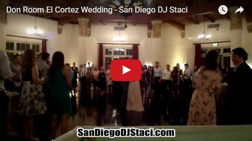 Don Room El Cortez Wedding - San Diego DJ Staci