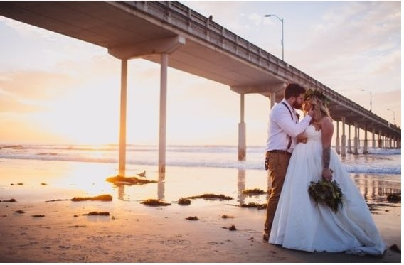 San Diego Sunset Wedding Photo 5