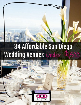 Affordable San Diego Wedding Venue Under $1500
