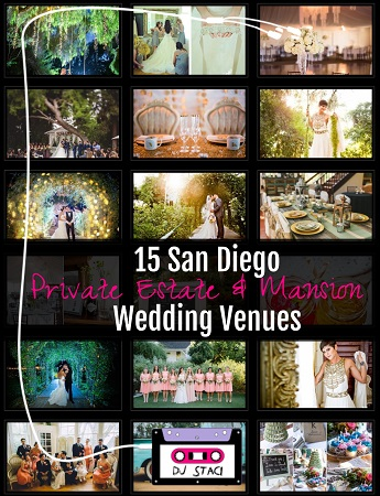 San Diego private estate mansion wedding venues