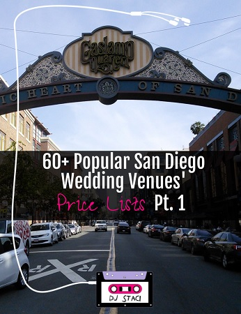 San Diego Wedding Venue Price Lists
